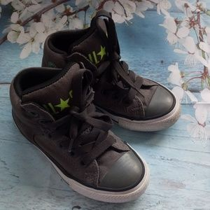 Converse US 11 Boy Hi Tops Grey Lace-Up Sneakers